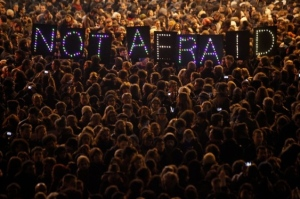 People around the world joined in solidarity to state