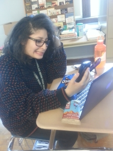 Senior Raquel Rivas is too stressed from all the technology at her fingertips.