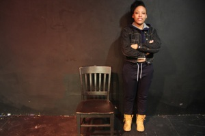Lawren Carter poses after her monologue performance (courtesy DNA Info)
