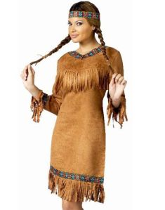 """An example of an """"Indian Princess"""" costume that is LESS cute and MORE cultural appropriation."""