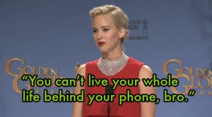 J- Law's comment to foreign reporter
