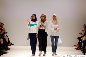 The Zulkifli sisters on the Runway of London Fashion Week