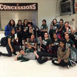 Kelleher and the Badminton team