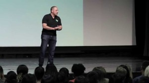 Kevin Hines at a speaking engagement